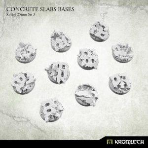 Kromlech   Concrete Slabs Bases Concrete Slabs Round 25mm Set 3 (10) - KRRB052 -