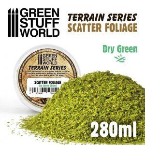 Green Stuff World   Lichen & Foliage Scatter Foliage - Dry Green - 280ml - 8435646500126ES - 8435646500126