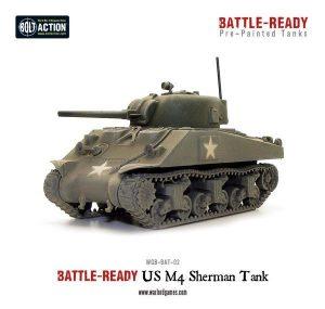 Warlord Games Bolt Action  Battle Ready M4A3 Sherman Battle Ready Tank - WGB-BAT-02 -