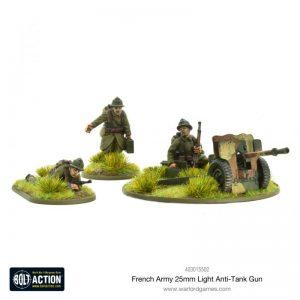 Warlord Games Bolt Action  France (BA) French Army 25mm Light Anti-Tank Gun - 403015502 - 5060572501638