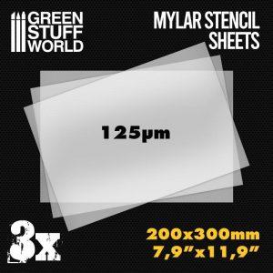 Green Stuff World   Stencils A4 Mylar Stencil Sheets x3 - 8436574508529ES - 8436574508529