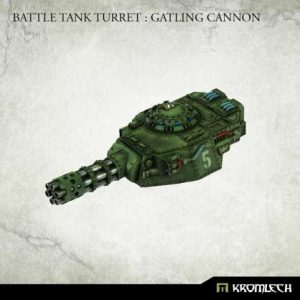 Kromlech   Imperial Guard Conversion Parts Battle Tank Turret: Gatling Cannon (1) - KRVB088 - 5902216119789