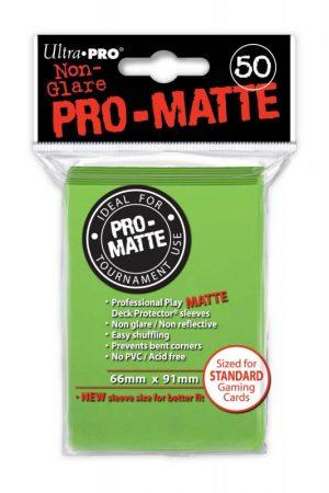 Ultra Pro   SALE! Ultra Pro Pro-Matte Sleeves (Lime Green) (50) - UPR84190 - 074427841904