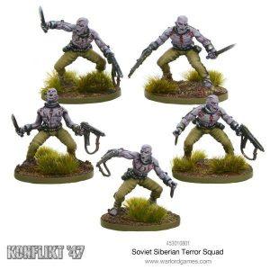 Warlord Games Konflikt '47  SALE! Soviet Siberian Terror Squad - 453010801 - 5060393704973