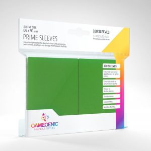 Gamegenic   SALE! Gamegenic Prime Sleeves Green (100 pack) - GGS11019ML - 4251715402214