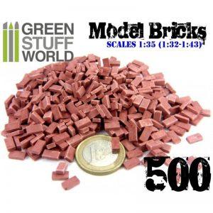 Green Stuff World   Modelling Bricks Model Bricks - Red x500 - 8436554367054ES - 8436554367054