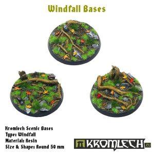 Kromlech   Windfall Bases Windfall round 50mm (3) - KRRB026 -