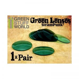 Green Stuff World   Costume & Cosplay 1x pair LENSES for Steampunk Goggles - Color GREEN - 8436554361977ES - 8436554361977