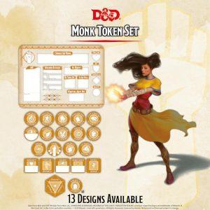 Gale Force Nine Dungeons & Dragons  D&D Extras D&D: Monk Token Set (Player Board & 23 tokens) - GFN72511 - 9420020251175