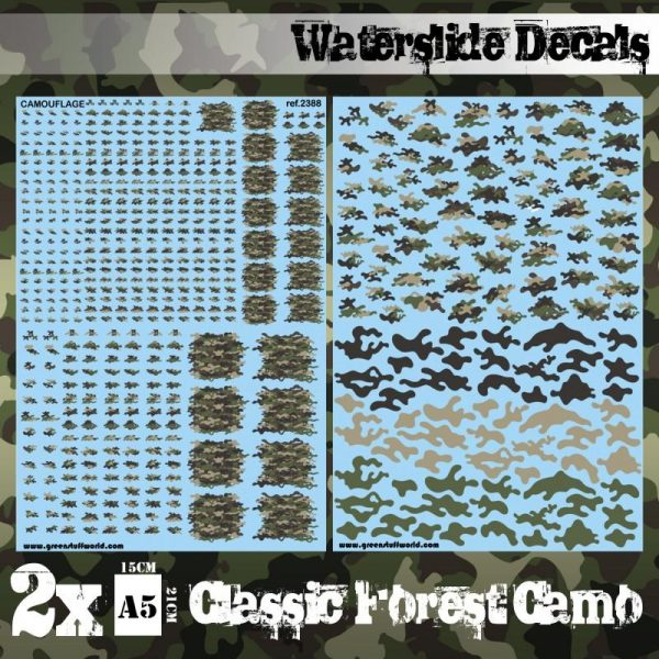 Green Stuff World   Decals Waterslide Decals - Classic Forest Camo - 8436574507478ES - 8436574507478