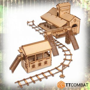 TTCombat   World War Scenics 25mm City Train Station - TTSCW-WAR-042 - 5060570139130