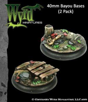 Wyrd   Bayou Bases Bayou 40mm bases (2 pack) - WYR0022 - 813856011447