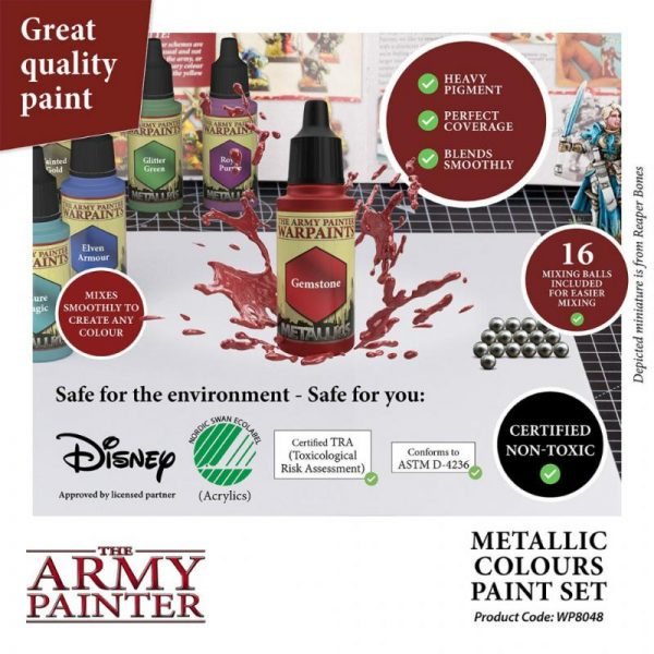 The Army Painter   Paint Sets Warpaints Metallic Colours Paint Set - AP-WP8048 - 5713799804807