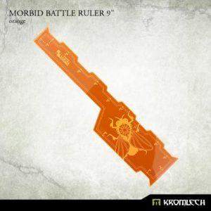 Kromlech   Tapes & Measuring Sticks Morbid Battle Ruler 9in [orange] (1) - KRGA072 - 5902216117297