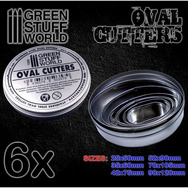 Green Stuff World   Stamps & Punches Oval Cutters for Bases - 8436574503579ES - 8436574503579