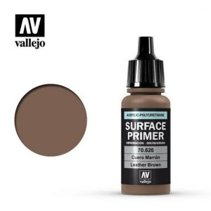 Vallejo   Model Air Primers Primer: Leather Brown 17ml - VAL70626 - 8429551706261