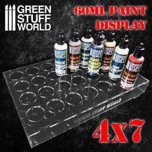 Green Stuff World   Paint Racks Auxiliary Paint Display 60ml (4x7) - 8436574503821ES - 8436574503821