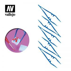 Vallejo   Vallejo Tools AV Vallejo Tools - Plastic Tweezers x5 - VALT12006 - 8429551930505