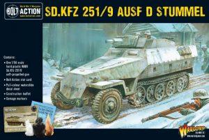 Warlord Games Bolt Action  Germany (BA) Sd.Kfz 251/9 Ausf D (Stummel) Half Track - 402012005 - 5060393703754