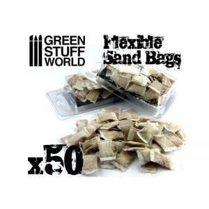 Green Stuff World   Green Stuff World Terrain flexible SANDBAGS x50 - 8436554367153ES - 8436554367153