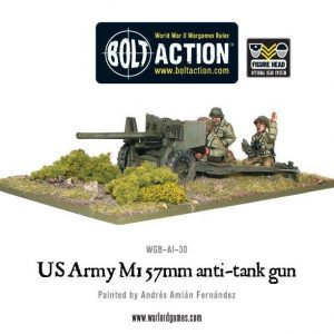 Warlord Games Bolt Action  United States of America (BA) US Army 57mm Anti-Tank Team - WGB-AI-30 - 5060200844861
