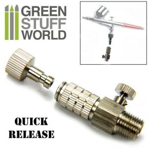 Green Stuff World   Airbrushes & Accessories QuickRelease Adaptor with Air Flow Control 1/8 - 8436554369324ES - 8436554369324