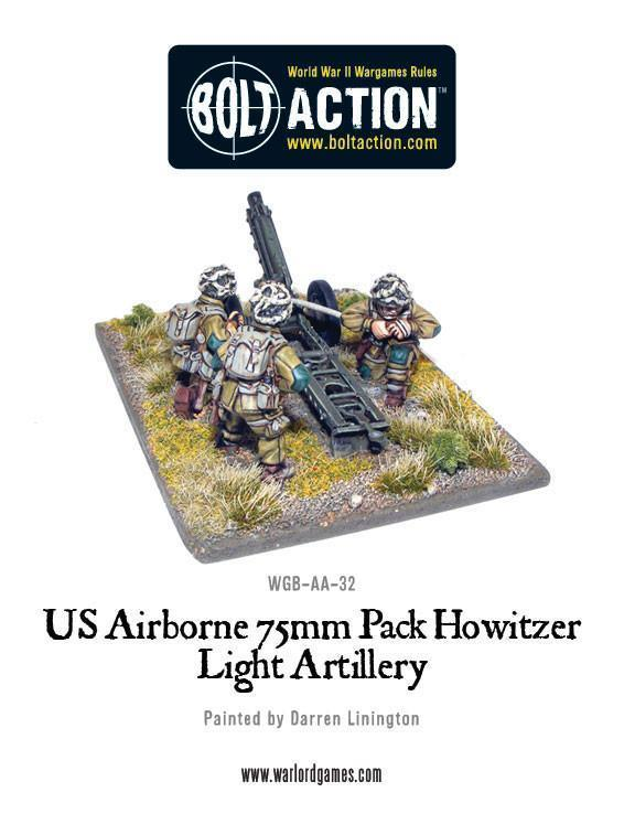 Warlord Games Bolt Action  United States of America (BA) US Airborne 75mm pack howitzer light artillery - WGB-AA-24 - 5060200847411