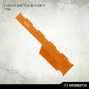 Kromlech   Tapes & Measuring Sticks Chaos Battle Ruler 9in [orange] (1) - KRGA055 - 5902216116566