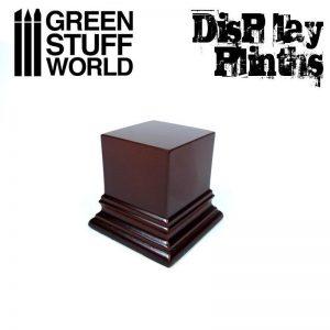 Green Stuff World   Display Plinths Square Top Display Plinth 4x4 cm - Hazelnut Brown - 8436574501612ES - 8436574501612