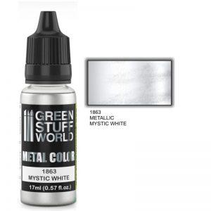 Green Stuff World   Acrylic Metallics Metallic Paint MYSTIC WHITE - 8436574502220ES - 8436574502220