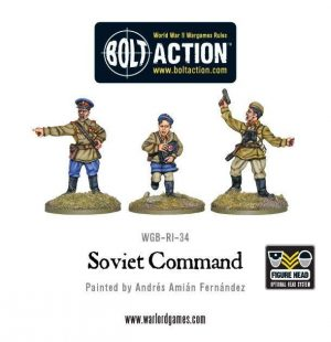 Warlord Games Bolt Action  Soviet Union (BA) Soviet Command (3) - WGB-RI-34 - 5060200844779