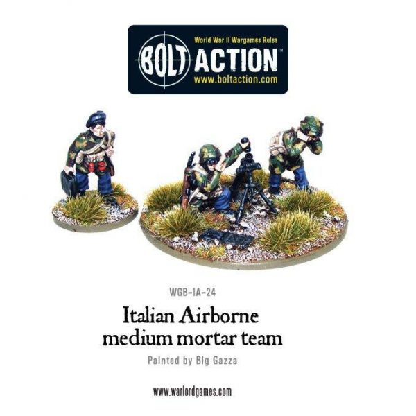 Warlord Games Bolt Action  Italy (BA) Italian Airborne Medium Mortar Team - WGB-IA-24 - 5060200848876