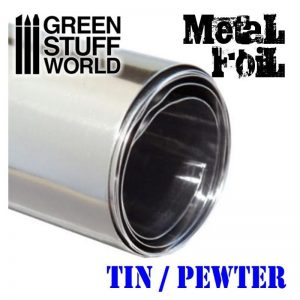 Green Stuff World   Metal Sheets & Wire Flexible Metal Foil - TIN / PEWTER - 8436554367450ES - 8436554367450