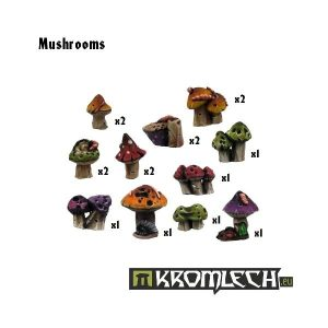 Kromlech   Basing Extras Mushrooms (16) - KRBK003 - 5902216111851
