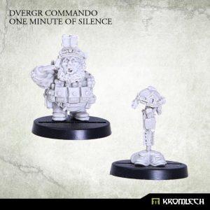Kromlech   Dvergr Model Kits Dvergr Commando One Minute of Silence (1) - KRM100 - 5902216113879