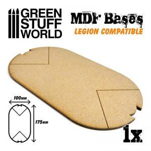 Green Stuff World   MDF Bases MDF Bases - Oval 100x175mm (Legion) - 8435646502335ES - 8435646502335