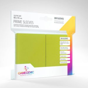 Gamegenic   SALE! Gamegenic Prime Sleeves Lime (100 pack) - GGS11022ML - 4251715402276