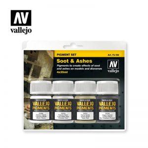 Vallejo   Pigments AV Vallejo Pigments Set - Soot & Ashes - VAL73193 - 8429551731935