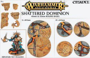 Games Workshop   Games Workshop Bases Shattered Dominion (65mm & 40mm) - 99120299034 - 5011921073122
