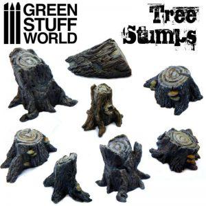 Green Stuff World   Green Stuff World Conversion Parts Tree Stumps - 8436574500387ES - 8436574500387