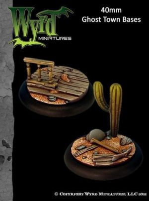 Wyrd   Ghost Town Ghost Town 40mm bases - WYR0035 - 813856013328