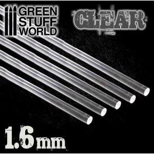 Green Stuff World   Acrylic Rods Acrylic Rods - Round 1.6 mm CLEAR - 8436574503555ES - 8436574503555