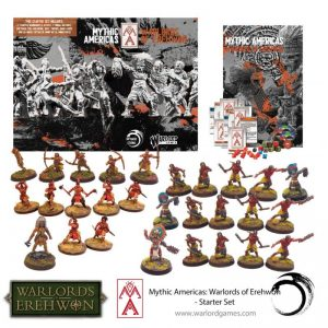 Warlord Games Warlord of Erehwon | Mythic Americas  Warlords of Erehwon Mythic America Aztec & Nations Starter Set - 721510002 - 5060393709978
