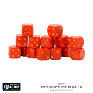 Warlord Games Bolt Action  Bolt Action Books & Accessories Soviet Union D6 Dice (16) - 408404001 - 5060393708599
