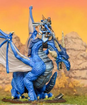 Mantic Kings of War  Forces of Basilea Basilean High Paladin on Dragon - MGKWB104 - 5060208868883