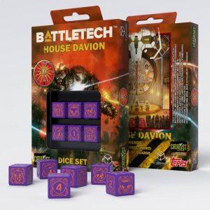 Q-Workshop   Q-Workshop Dice Battletech House Marik D6 Dice set (6) - SBMA80 - 5907699493104