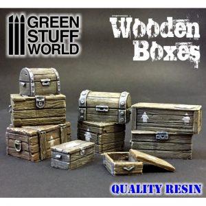 Green Stuff World   Green Stuff World Conversion Parts Wooden boxes set - 8436554364619ES - 8436554364619
