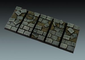 Baker Bases   Ruined Flagstones Flagstones: Cavalry Bases (5) - CB-RF-02-CAV - CB-RF-02-CAV