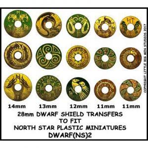 North Star Oathmark  Oathmark Dwarf Shield Transfers 2 - DWARF(NS)2 -