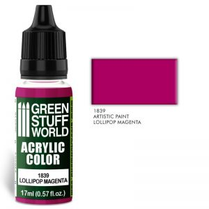 Green Stuff World   Acrylic Paints Acrylic Color LOLLIPOP MAGENTA - 8436574501988ES - 8436574501988
